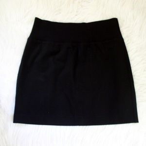 Theory 'Kalima' Black Stretch Wool Skirt